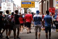 Fãs de futebol em Kaiserslautern Fotos de Stock Royalty Free