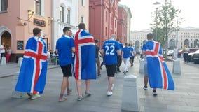 Fãs de Islândia na rua Foto de Stock Royalty Free