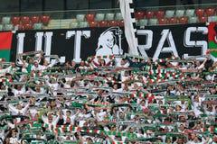 Fãs de Legia Varsóvia Fotos de Stock Royalty Free