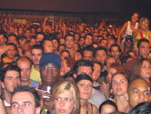 Fãs de Lenny Kravitz no concerto Imagens de Stock