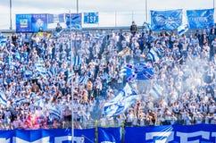 Fãs de Zenit St Petersburg Fotos de Stock Royalty Free