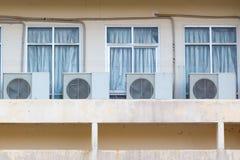 Fãs do compresor dos condicionadores de ar Fotografia de Stock Royalty Free