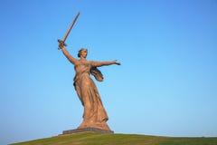 'Fäderneslandappellerna!', monument i Volgograd, Ryssland Royaltyfri Fotografi
