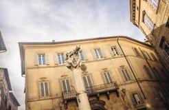 Fähe in den Straßen von Siena - Legenden stockbilder