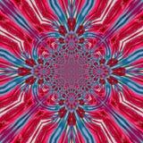 Fähiges kaleidoskopisches Muster der blauen rosa hellen Fractalfliese stock abbildung