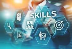 Fähigkeits-Wissens-Fähigkeits-Geschäfts-Internet-Technologie Konzept stockfotos