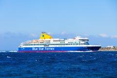 Fähre des blauen Sternes, Griechenland Lizenzfreies Stockfoto