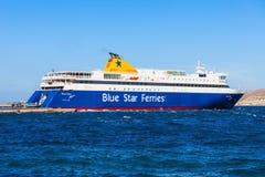 Fähre des blauen Sternes, Griechenland Stockfoto