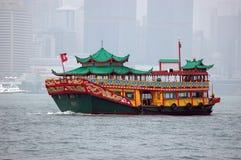 Fähre des Hong- Kongtouristen Stockfoto