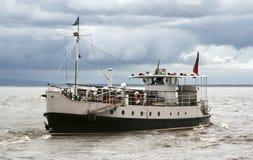 Fähre im Bristol-Kanal Stockbilder
