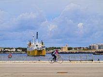 Fähre Iscomar in Ciutadella auf Minorca Lizenzfreies Stockfoto