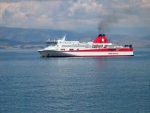 Fähre nahe Korfu Lizenzfreies Stockfoto