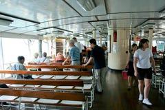 Fähre in Victoria Harbour Hong Kong Lizenzfreie Stockfotografie