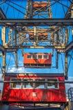 Fähren drehen herein Prater Park in Wien Lizenzfreie Stockfotos