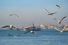 Fähren in Istanbul Stockbild