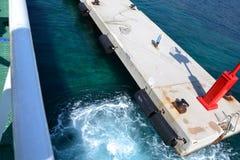 Fährenabfahrt Lizenzfreie Stockbilder