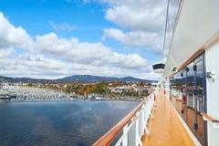 Fährenplattform, Norwegen Stockbild