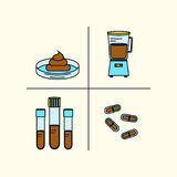 Fäkale microbiota Transplantation stock abbildung