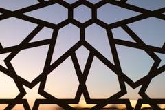Fäkta med en blom- modell och stjärnor på solnedgången Turkmodeller och bakgrunder royaltyfri bild