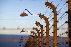 Fäkta runt om koncentrationsläger av Auschwitz Birkenau, Polen Arkivbild