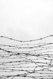 fäktning förse med en hulling stakettråd låtet arrest taggar _ En fånge Förintelsekoncentrationsläger fång Arkivbilder