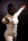 Fäktningkvinna Arkivfoton