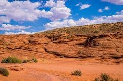 Fäll ned antilopkanjonen, Arizona ovanför sikt Royaltyfria Bilder