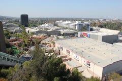 Fäll ned lotten på universella studior Hollywood Arkivbilder