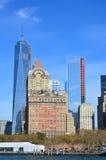 Fäll ned mahattan och en World Trade Center Arkivfoto