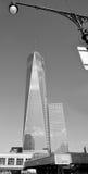 Fäll ned mahattan och en World Trade Center Fotografering för Bildbyråer