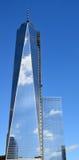 Fäll ned mahattan och en World Trade Center Royaltyfria Foton