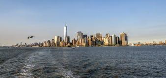 Fäll ned Manhattan royaltyfri bild