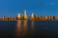 Fäll ned Manhattan horisont Royaltyfri Foto