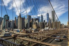 Fäll ned manhattan New York Arkivbild