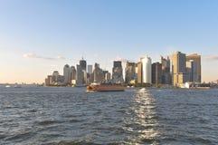 fäll ned manhattan New York Arkivbilder