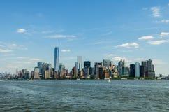 fäll ned manhattan New York Royaltyfri Bild
