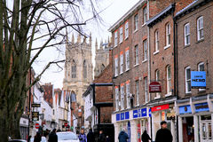 Fäll ned Petergate, York Royaltyfria Bilder