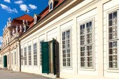 Fäll ned slotten i belvederen, Wien, Österrike royaltyfri fotografi
