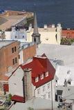 Fäll ned staden av gamla Quebec City, Kanada Arkivfoto