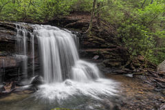 Fäll ned vattenfallet på Jonathan Run royaltyfri foto