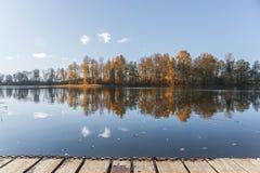 Fälla på sjön Fotografering för Bildbyråer