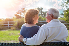 Fällige ältere Paare Stockbild