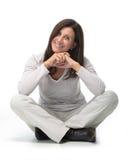 Fällige Frau lizenzfreies stockbild