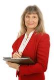 Fällige Geschäftsfrau oder Grundstücksmakler Lizenzfreie Stockbilder