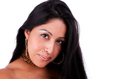 Fällige lateinische Frau lizenzfreie stockfotos