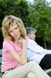 Fällige Paare, die Verhältnis-Probleme haben stockbilder