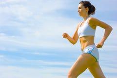 Fälliger Frauen-Athlet Lizenzfreie Stockbilder