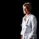 Fälliger Frauen-Doktor Lizenzfreies Stockbild