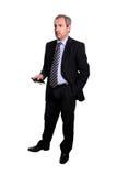 Fälliger Geschäftsmann - volle Karosserie Lizenzfreie Stockfotografie
