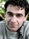 Fälliger Mann mit blauen Augen Lizenzfreies Stockfoto